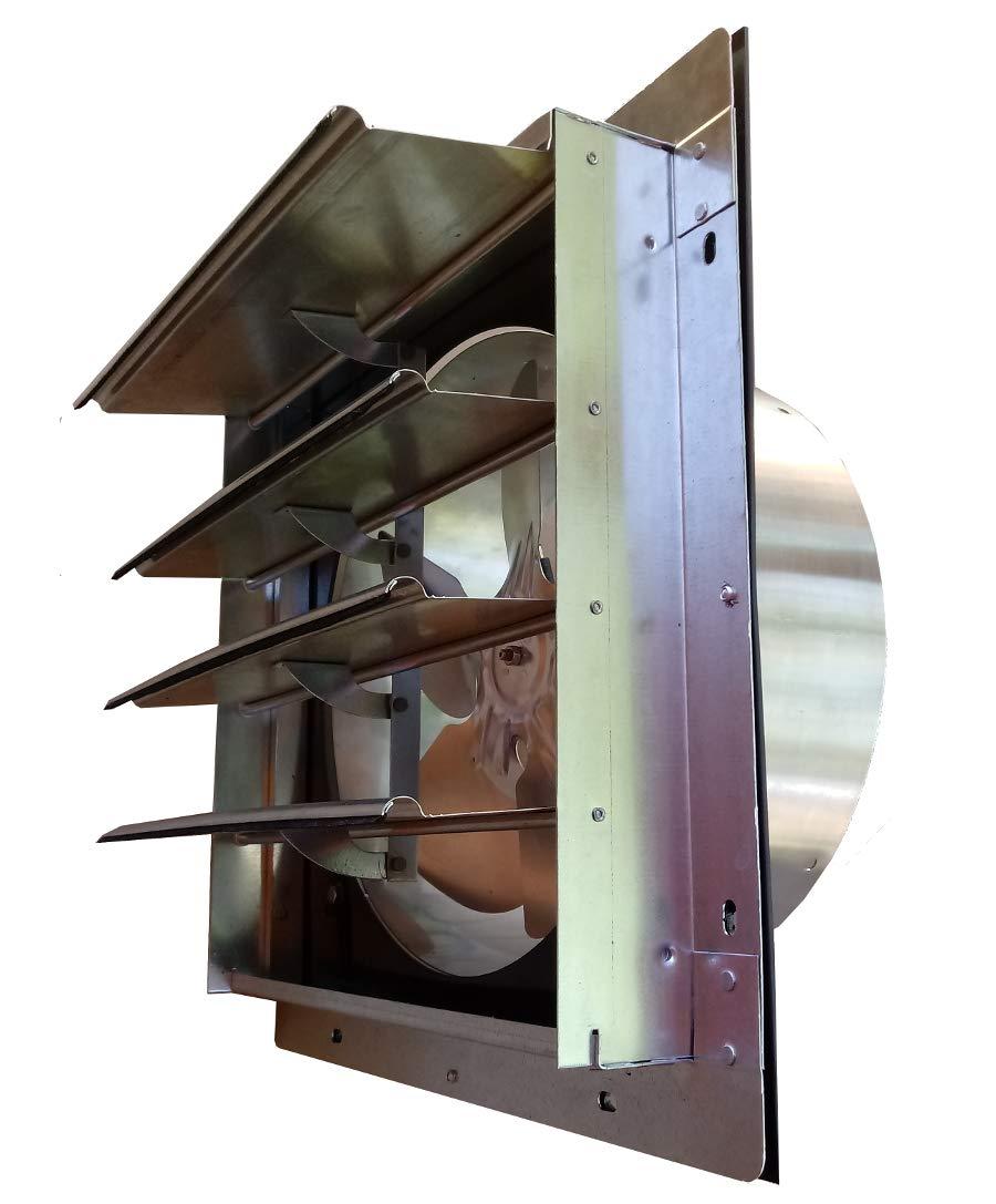 Western Harmonics Solar DC Powered Shutter Exhaust Fan