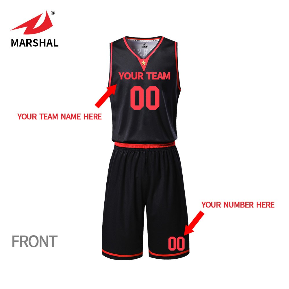 4be0ef9f672 ZHOUKA mens black team uniforms custom sublimation basketball jersey set  design your name and logo  Amazon.co.uk  Sports   Outdoors