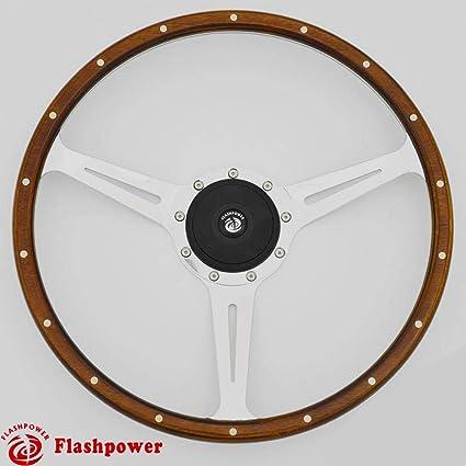 471bd234bc0b68 Amazon.com: 16'' Classic wood grain steering wheel Restoration Jaguar  E-type XKE MK2 Derrington: Automotive