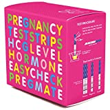PREGMATE 50 Pregnancy HCG Test Strips One Step Urine Test Strip Combo Predictor Kit Pack (50 HCG)