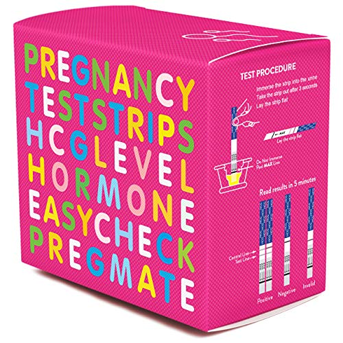 PREGMATE 40 Pregnancy (HCG) Urine Test Strips, 40 HCG Tests]()