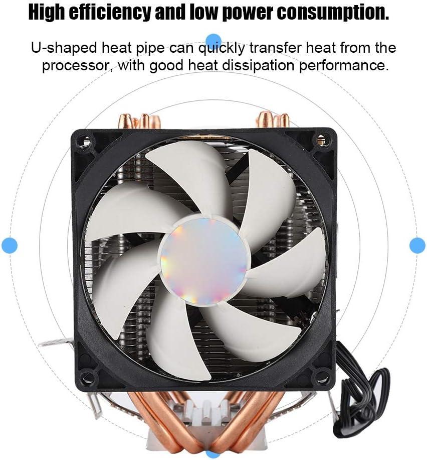 Tosuny Case Fan Magic Light Standard Cooling Fan 9CM Double Fan 4 Copper Tube CPU Cooling Radiator Cooler CPU Cooling Fan