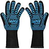 Oven Mitts Heat Resistant BBQ Gloves – Best Silicone Cooking & Grilling Accessories – Extreme Hot 932 Degrees Hand & Forearm Protection, 4 Colors