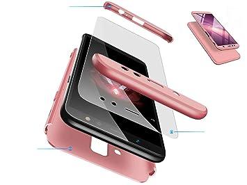 Funda Huawei Honor 8X MAX, DYGG Compatible con Carcasa Protección de 360 Grados Case Cover Caso para Huawei Honor 8X MAX+ Protector de Pantalla-Oro ...