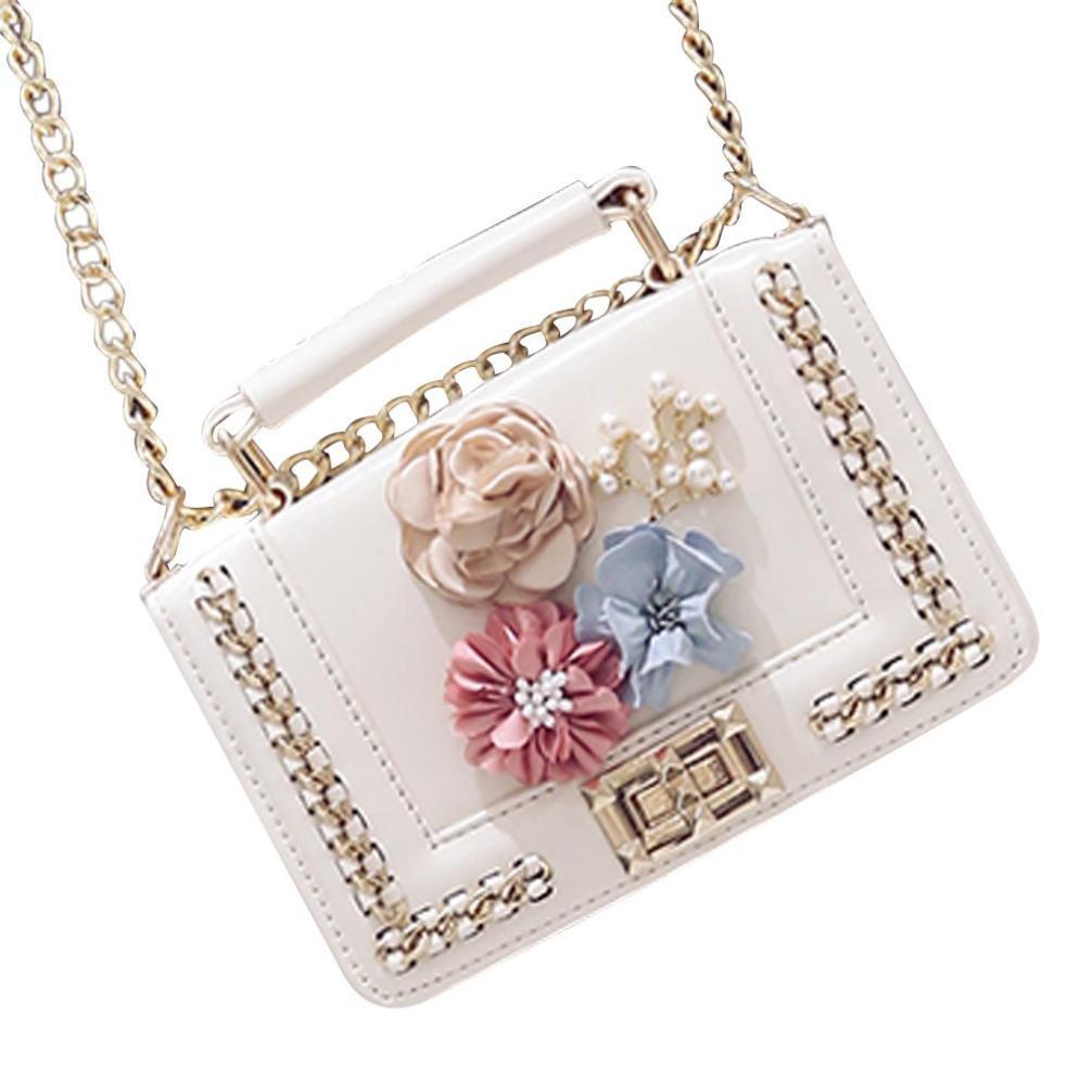 Clearance! Nevera Women Mini Vintage Purse Shoulder Bag Crossbody Coin Bags (White)