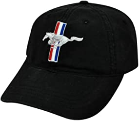 773818d6a4b HAT - Ford Mustang Embroiderd Adjustable Ball Cap Hat Black