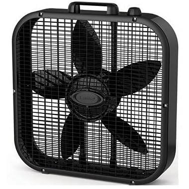 Lasko B20401 Decor Box Fan, 20 , Black