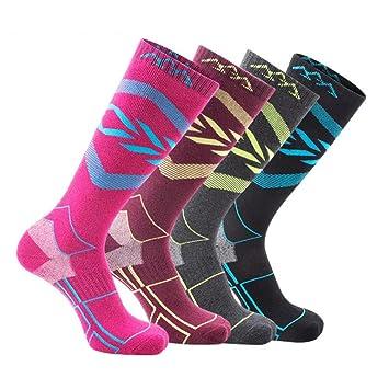 TZTED Calcetines Térmicos de Esquí para Snowboard, Ciclismo, Trekking, Deportes,L(