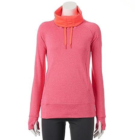 fc1dc052f4 Amazon.com  Adidas WOMENs Go To Fleece Long-Sleeve Funnel-Neck ...