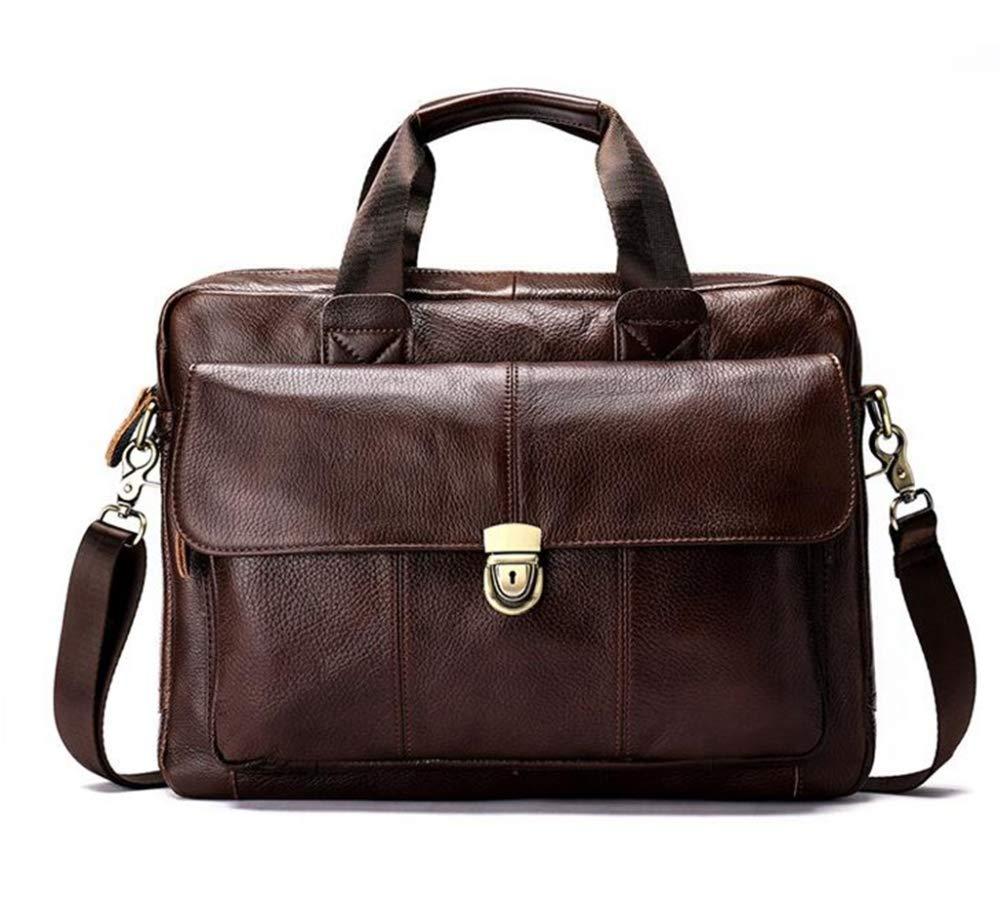 Sxuefang Mens Shoulder Bag Mens Messenger Bag Leather Mens Bag Casual Business Mens Handbag Briefcase Notebook Computer Bag 36.5x8x27cm