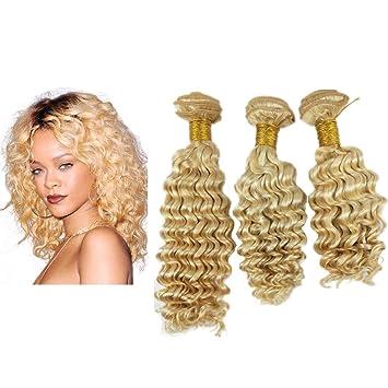 Mila Afro Frisuren Blonde 613 Echthaar Tressen Lockig