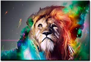 Colorful Lion Animal Art Paintings Prints Canvas Poster Home Ornaments Gift