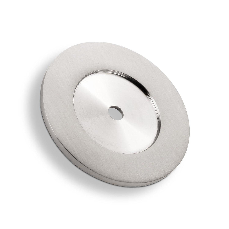 5 x SO-TECH® Arandela para Tope de Puerta TOPPER Ø 52 mm Acero Inox ...
