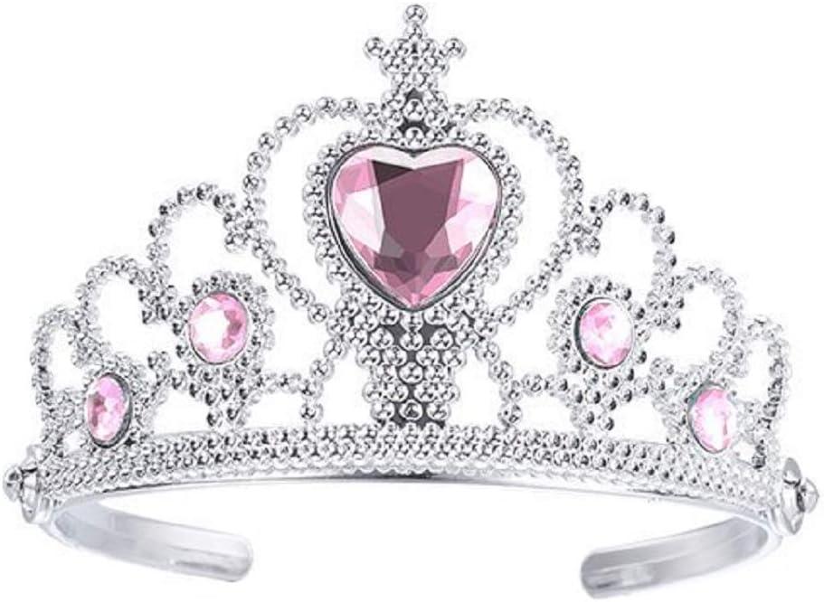 Principessa Accessori Travestimenti per bambini Pietre colorate Corona e Bacchetta per Bambine Cosplay Idea regalo originale Rosa Halloween Carnevale Regina