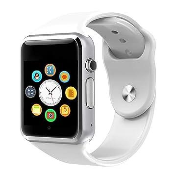 QTEC Reloj Inteligente Blanco Android Mujeres Reloj ...