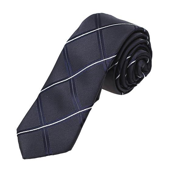 DAN SMITH - Corbata - Cuadrados - para hombre Gris DAE7C04F-Black ...