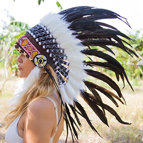 Headress Indian (Novum Crafts Feather Headdress | Native American Indian Inspired |)