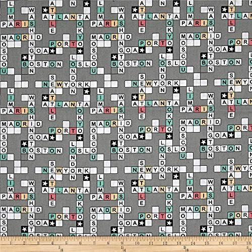 Stof fabrics Stof Enfant Scrabble Tela Gris por el Patio: Amazon.es: Juguetes y juegos