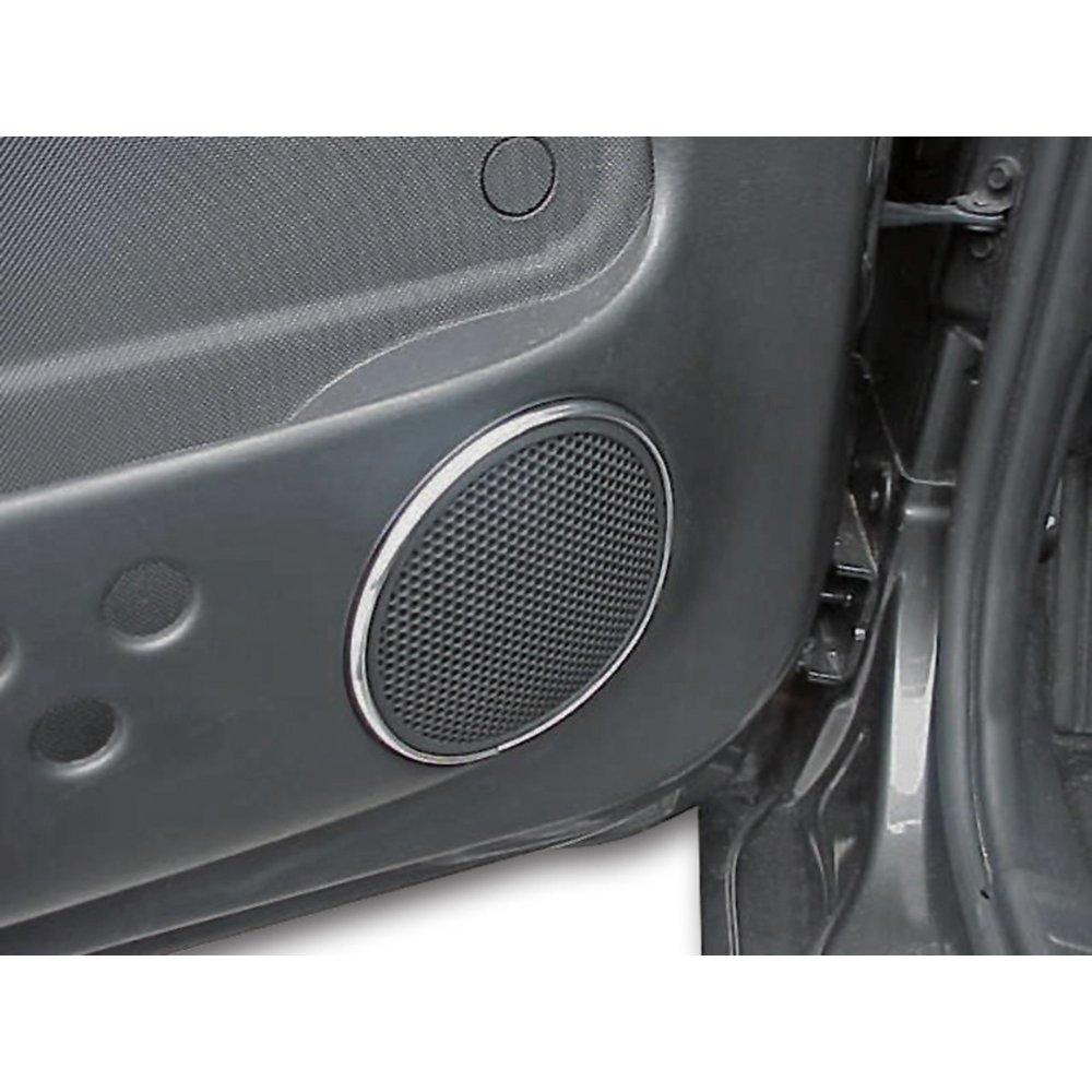 Upgrade Your Auto 2pc Chrome Vinyl Front Speaker Bezels Molding ...