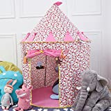 HKH Childrens Girls Kids Pink Princess Castle Play Tent Play House Indoor Outdoor Garden