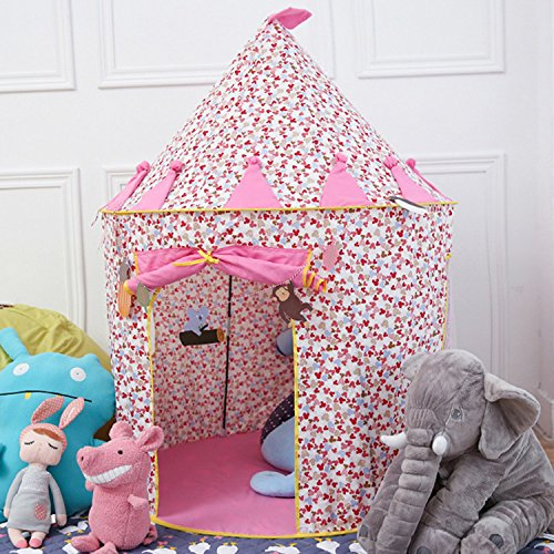 HKH Childrens Girls Kids Pink Princess Castle Play Tent Play House Indoor Outdoor Garden by Unknown