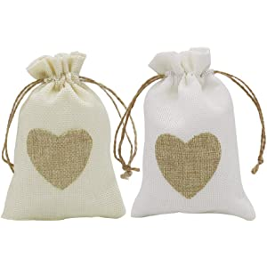 13f3bf48168f4 Amazon.com: 30 Pack Small Drawstring Pouches,Burlap Gift Bags with ...