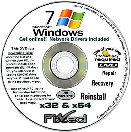 Review Recovery disc compatible w/