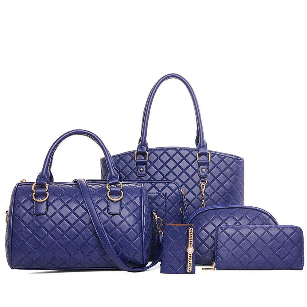 Single Shoulder Bag Mother Bag,Blue,Six Piece Set