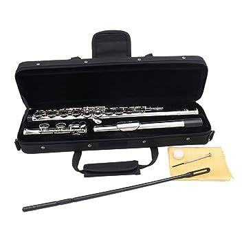 JohnJohnsen Plateado 16 Orificios Cerrados Flauta C Llave Western ...