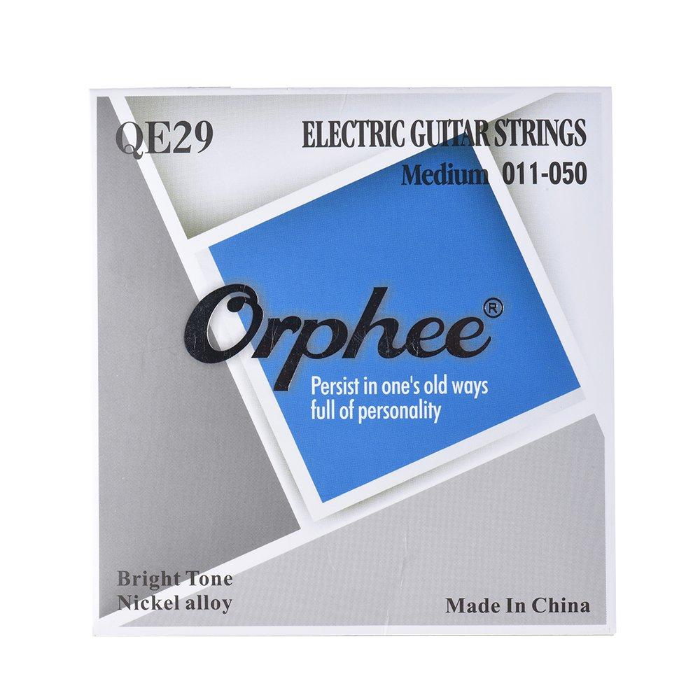 ammoon Orphee Cuerda de guitarra eléctrica 6pcs / Set (.011-.050) Núcleo de acero hexagonal Aleación de niquel Tensión media: Amazon.es: Instrumentos ...