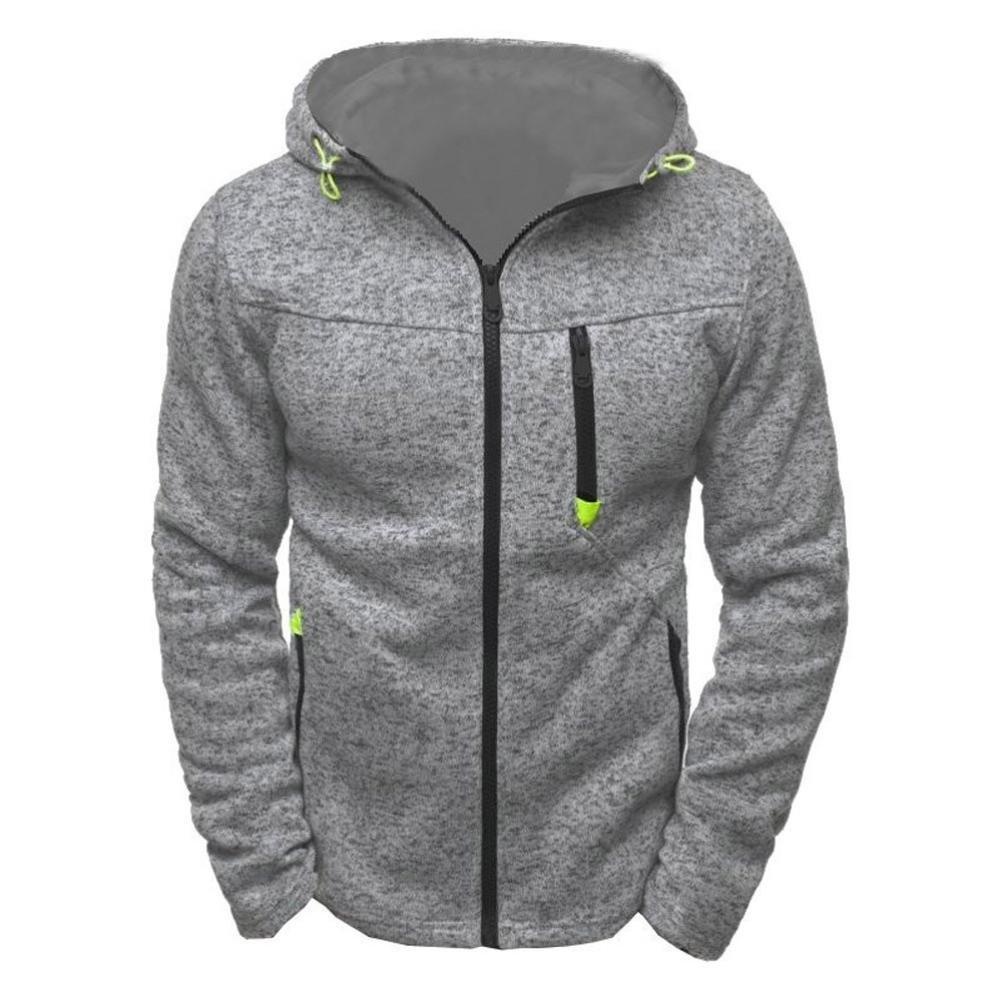 HOT ! YANG-YI Winter Men's Hoody Zipper Slim Hoodies Sweatshirts Pullover Coat Jacket