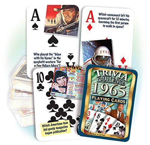 1965 Flickback Trivia Playing Cards: Great Birthday or Anniversary ()