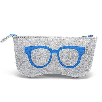 Fasionato - Estuche de gafas - fieltro de lana - gafas con ...