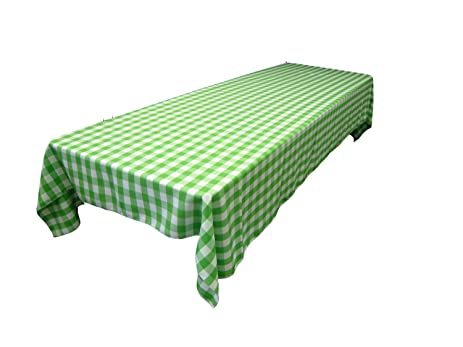 Rectangular Checkered Tablecloth 60x120 Inches By Runner Linens Factory  (Multiple Colors Available) Gingham,