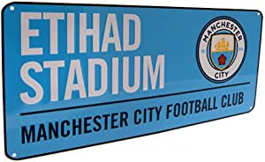 Official Licensed Manchester City F.C - Metal Street Sign (BL)