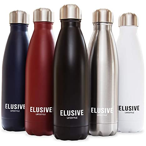 HYDRATE Stainless Steel Water Bottle /& Flask BPA Free Vacuum Insulated 500ml