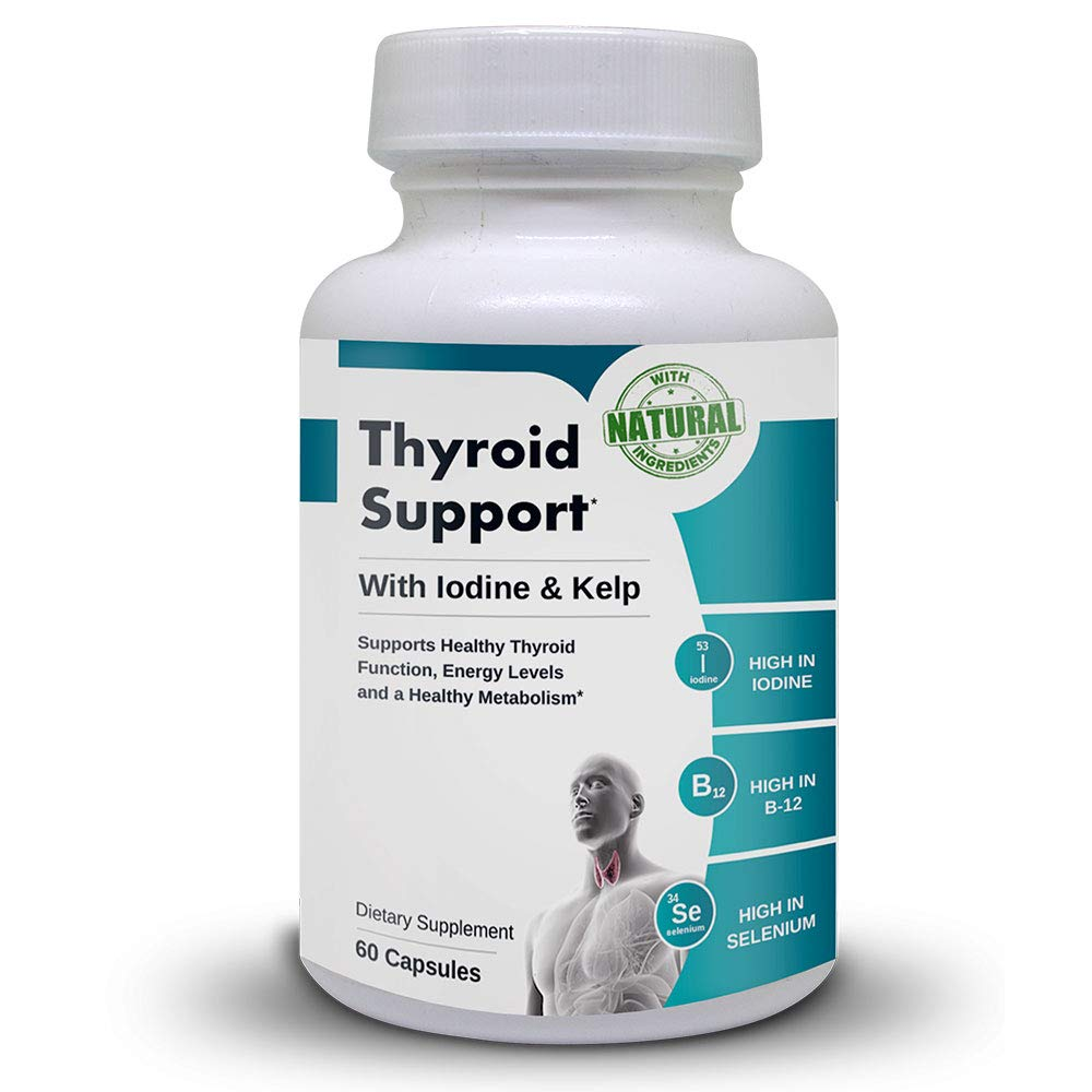 Thyroid Support | Natural Support for Healthy Thyroid Function. 60 Capsules