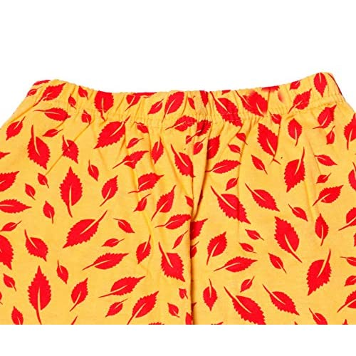 Pack of 4 Indistar Girls Super Soft and Stylish Cotton Printed Churidar Legging
