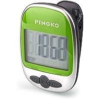 Pingko Marche podomètre avec précision Track étapes Portable Sport podomètre étape/Distance/compteur de calories/fitness tracker, calories Counter-green