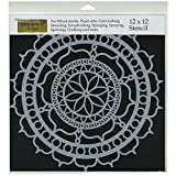 Crafters Workshop Template, 12 by 12-Inch, Rosetta