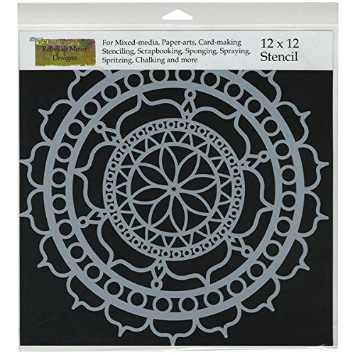 Crafters Workshop Template, 12 by 12-Inch, Rosetta (Crafters Workshop Stencil)