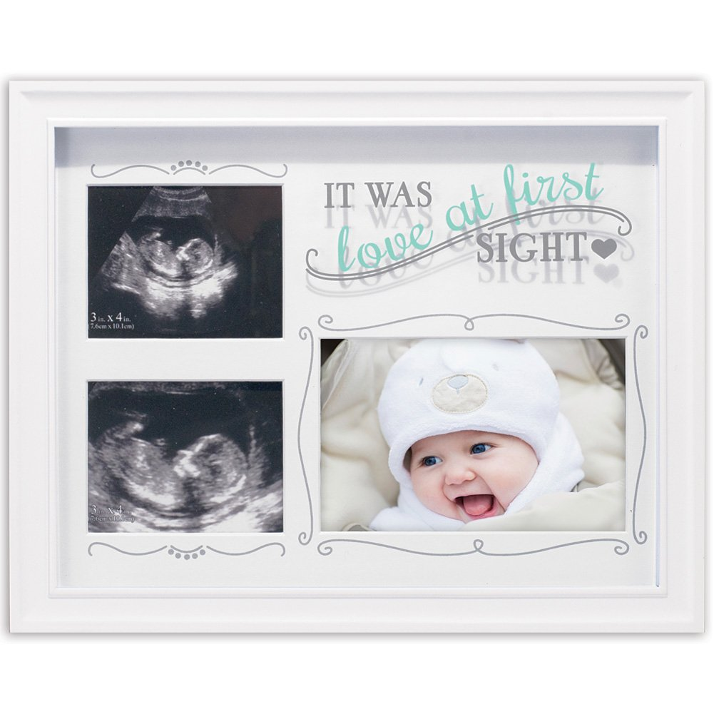 Malden Love At First Sight Decorative Baby Sonogram & Newborn Picture Frame
