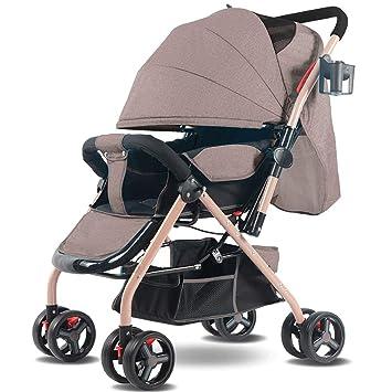 FXZ Cochecitos para niños pequeños Implementación bidireccional de Ligeros amortiguadores Plegables para bebés Confort Sentado y Tumbado Cochecitos de 0-3 ...