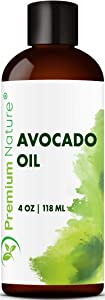 Avocado Oil Natural Carrier Oil - for Essential Oil Mixing, Massage Body Oil Moisturizer for Skin Hair & Nails, Pure Oil for Aromatherapy, Therapeutic Grade Anti Packaging May Vary 4 oz