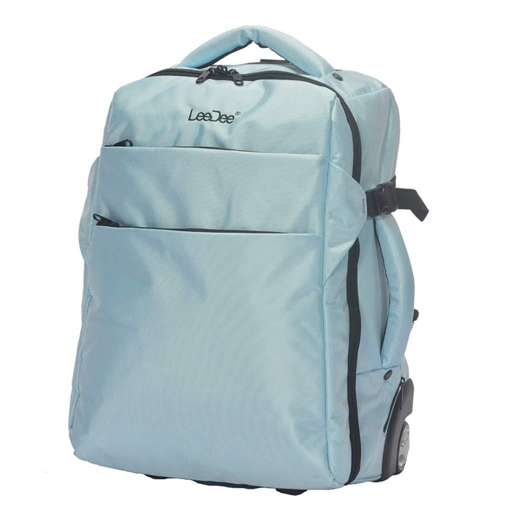 学校のラップトップバッグを旅する少年のためのトロリーバックパック大容量ストレージウィールドローリングバックパック防水旅の荷物 B07NMPWXRD