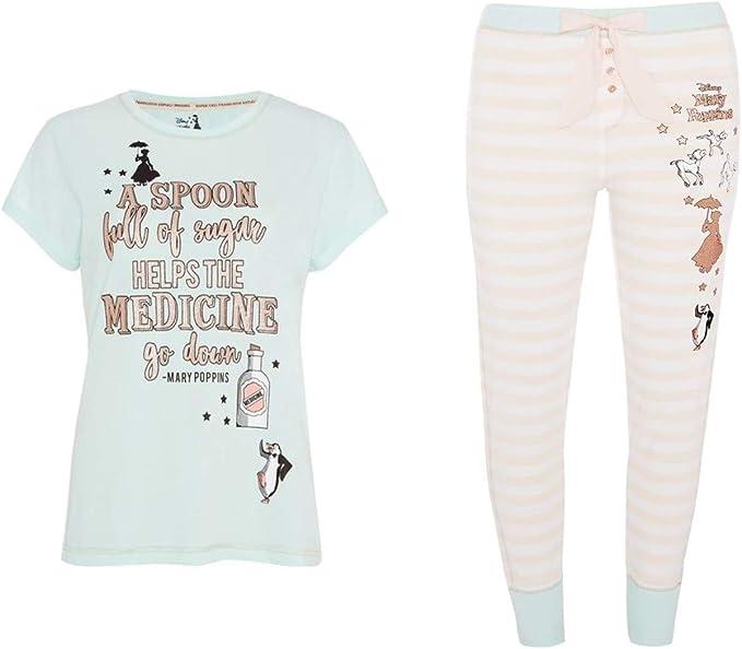 Pijama para Mujer de Disney Mary Poppins, Juego de 2 Piezas ...