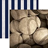 Paper House Productions P-2050E Baseballs Papers, 12-Inch double Sided (Pack of 15)