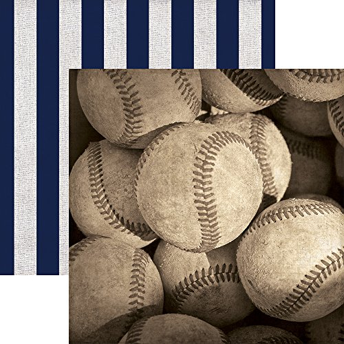 Paper House Productions P-2050E Baseballs Papers, 12-Inch double Sided (Pack of ()