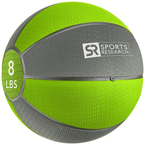 Sports Research Medicine Ball (8lb) | Helps develop core strength & balance