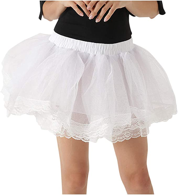 Mini Falda de Tul de Lapily de Varias Capas, para Carnaval ...